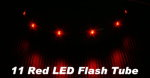 4x RC Model Red Color 11 LED Flash Elastic Tube CA127