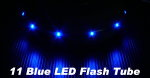 4x RC Model Blue Color 11 LED Flash Elastic Tube CA128